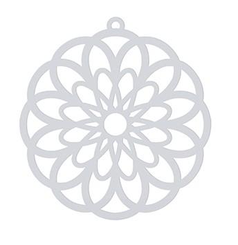 """Tafelgut, Papieranhänger """"Paper Cut Flower"""", weiß"""