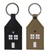 Schlüsselanhänger Haus, Braun