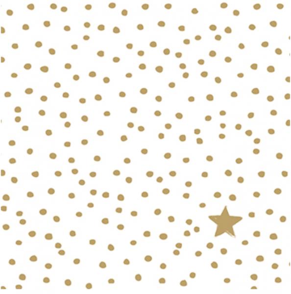 Papierservietten Golden Star and Dots