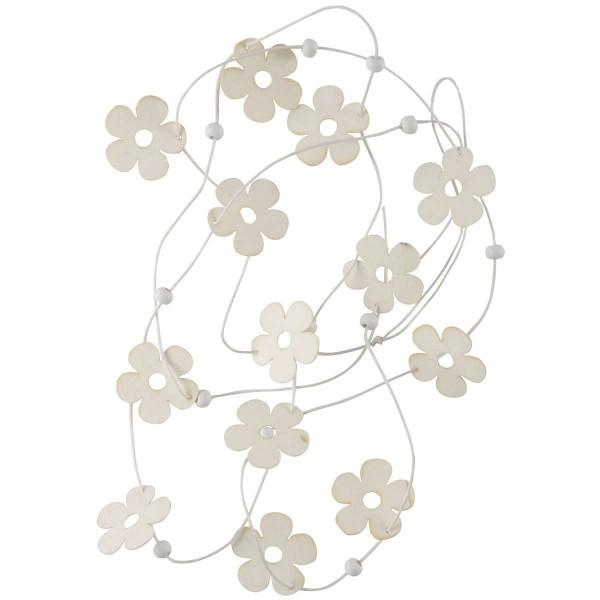 Ib Laursen Schnur mit Papierblumen, Weiß