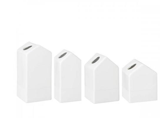 """Räder Mini-Vasen """"Häuschen"""" im 4er Set"""