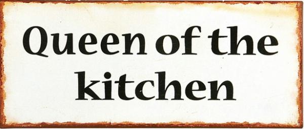 """Ib Laursen Metallschild """"Queen of the kitchen"""""""