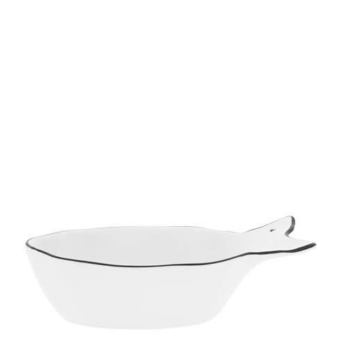 Bastion Collections Schale Fisch / Fish Bowl Heart in White