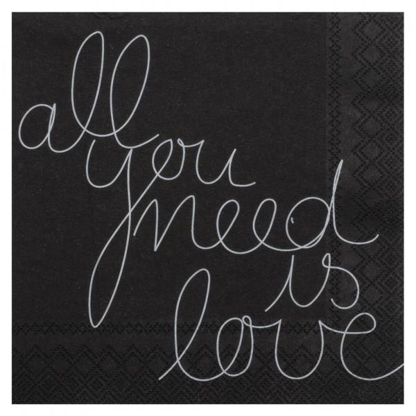 "Räder Papierserviette ""All you need is Love"""