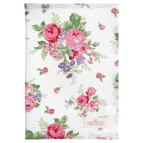 GreenGate Geschirrtuch Rose white