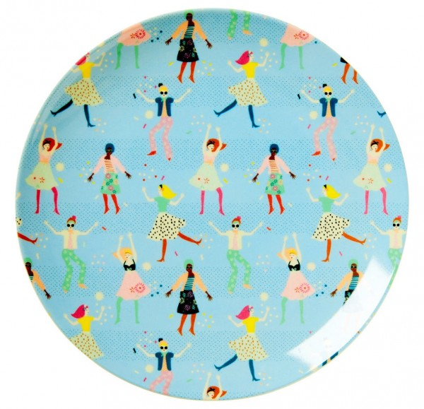 Rice Melamin Teller, Dancers Print