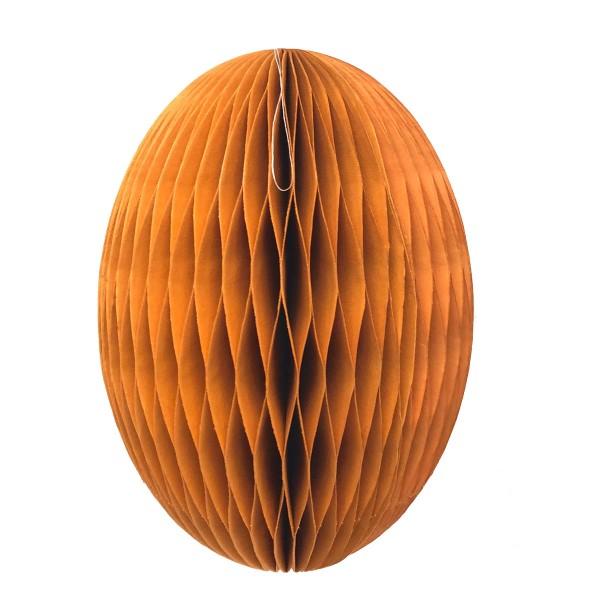 Papier-Osterei Swirl XXL, 30 cm, Dhalia - Orange
