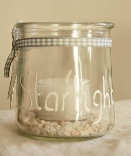 """Kleines Windlicht """"Starlight"""" mit Teelicht"""