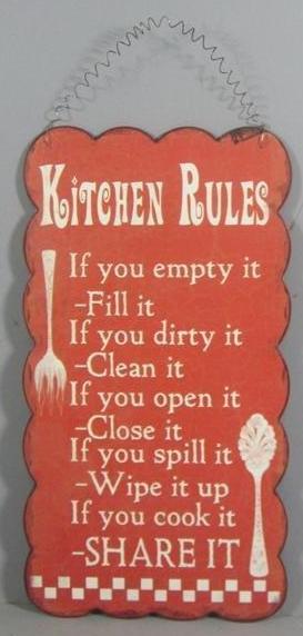 """Metallschild """"Kichen Rules"""""""