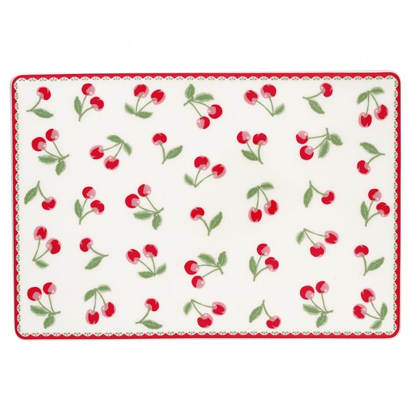 Greengate Porzellanbrettchen / Buttering Board Cherry White