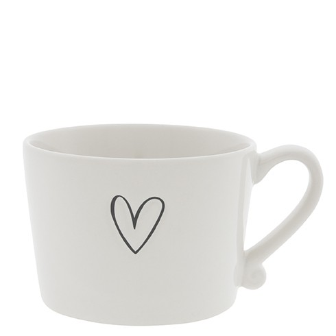 Bastion Collections Cup White / Heart in Black ❤