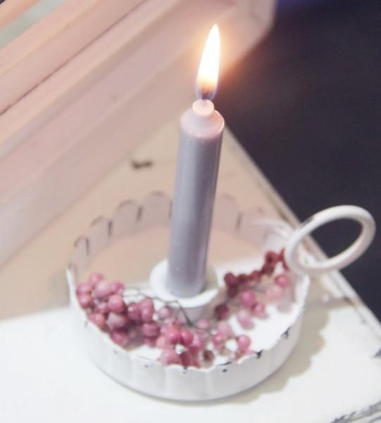 Kerzenhalter mit welligem Rand, klein