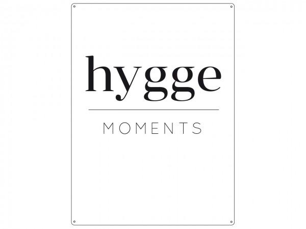 "Metallschild ""HYGGE Moments"""