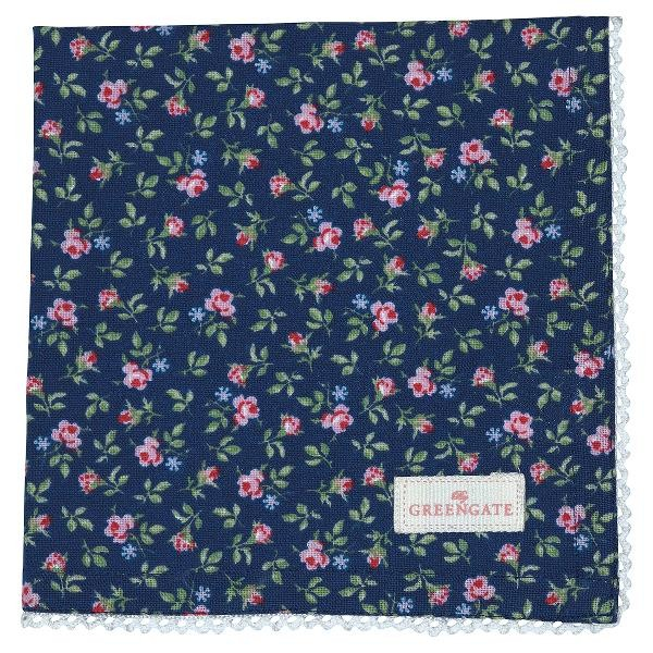 GreenGate Stoffserviette Berta dark blue
