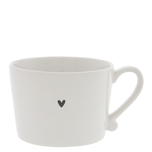 Bastion Collections Cup White / Little Heart in Black