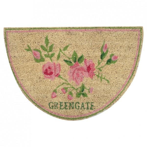 Greengate Fussmatte / Doormat Ottilie White half round