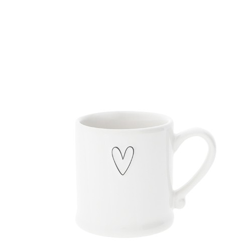 Bastion Collections Espressotasse White/Heart Black in Relief