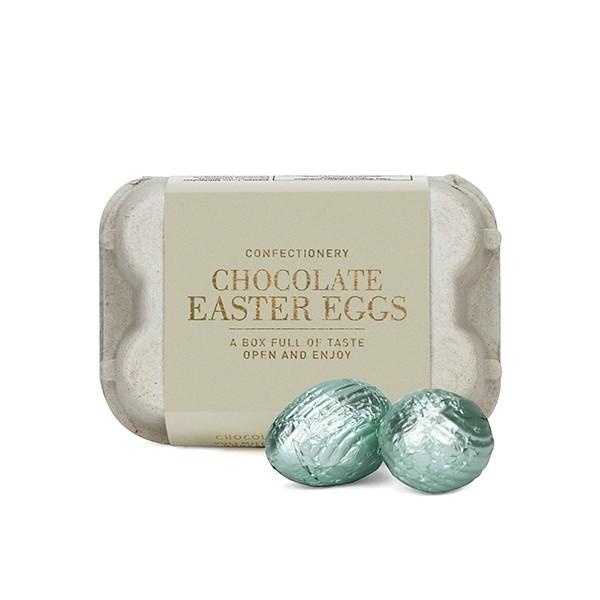 Schoko-Ostereier Blue Box, Weiße Schokolade/Nougatfüllung
