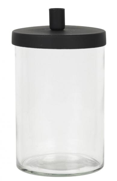 Ib Laursen, Kerzenhalter mit Glas/Deckel f. Tannenbaumkerze, schwarz