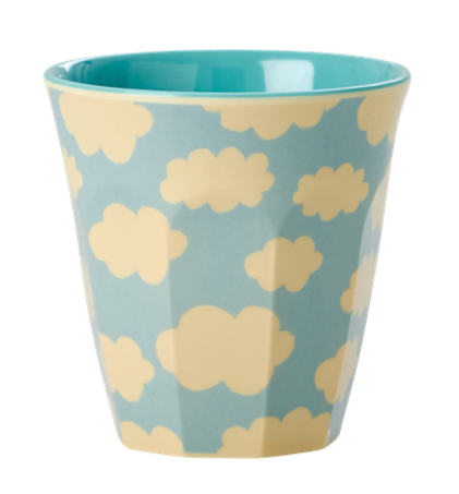 Rice Melamin Becher, Cloud Print