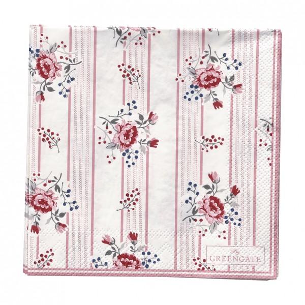 GreenGate Kleine Papierserviette Fiona Pale Pink