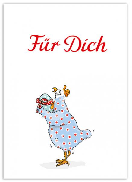 Krima & Isa Postkarte Für Dich Huhn