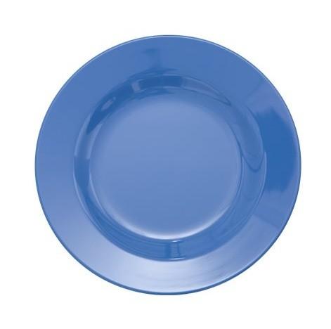 Rice Melamin Teller, New Dusty Blue