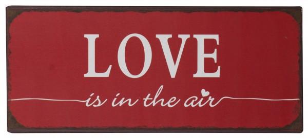 "Ib Laursen Metallschild ""Love is in the air"""