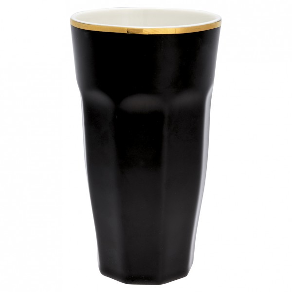 GreenGate French Latte Cup Black w/gold