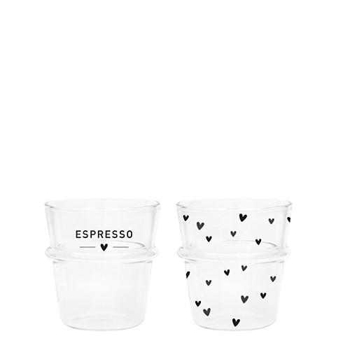 Bastion Collections Tumbler / Espresso Schriftzug Espresso/Herzen im 2er Set