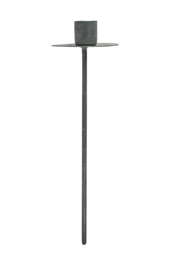 Spiess (lang) für dünne Kerze, grau