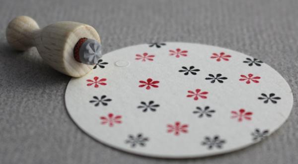 Perlenfischer Stempel Flocke mini 3