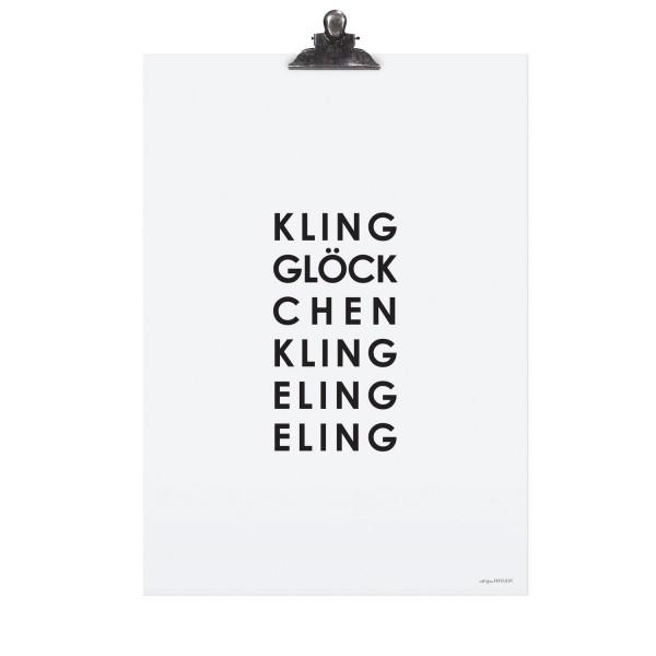 """Tafelgut Poster """"Kling Glöckchen"""""""