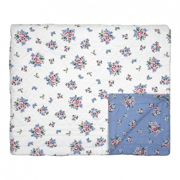 GreenGate Quilt / Bed Cover Nicoline Dusty Blue