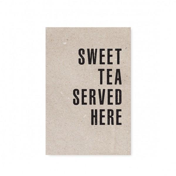 """Tafelgut, Karte """"Sweet Tea served here"""""""