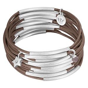 Sence Copenhagen Armband Urban Gipsy, nutmeg worn silver, 3teiilig