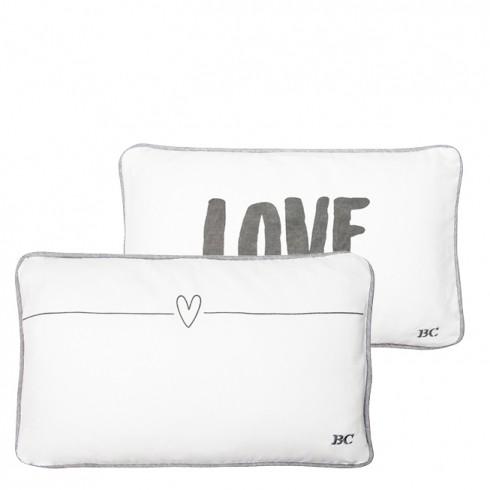 Bastion Collections Kissen, Love Cushion White/Dark Grey