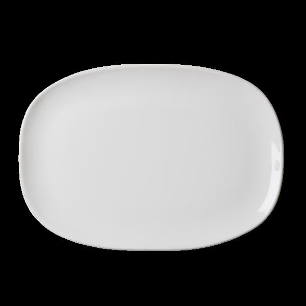Rice Ovaler Speiseteller, weiß