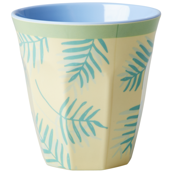Rice Melamin Becher, Palm Leaves Print