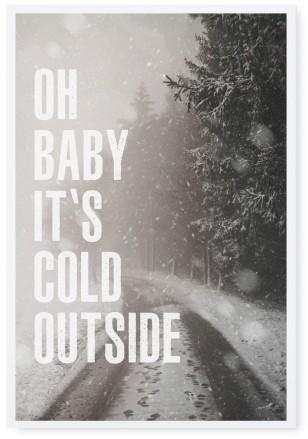 "Tafelgut, Karte ""Oh Baby it's cold outside"""