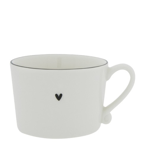 Bastion Collections Cup White with Black Edge