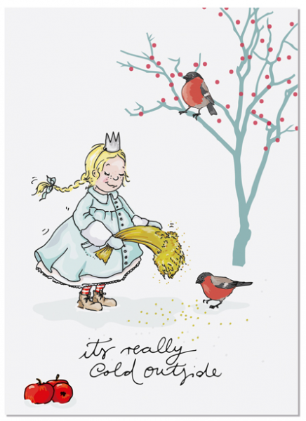 Krima & Isa Postkarte Eisprinzessin