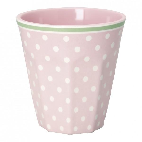 Greengate Melamin Becher / Mug Spot Pale Pink