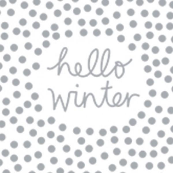 """Räder Papierserviette """"hello winter"""""""