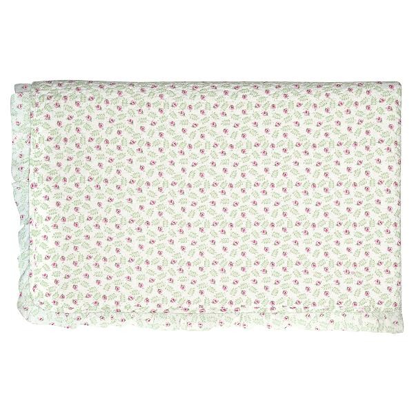 GreenGate Kleiner Quilt / Bed Cover Lily Petit white w frill