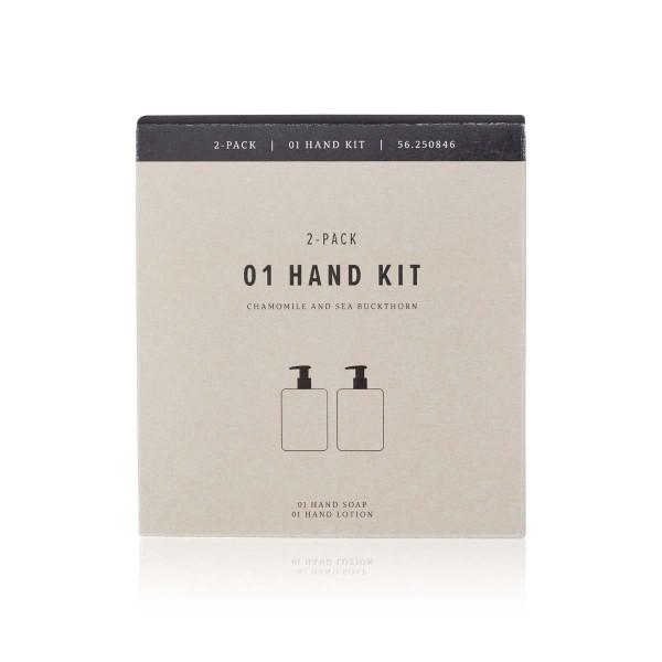 Humdakin Handcare Kit Handseife & Handlotion Kamille und Sanddorn, je 300 ml