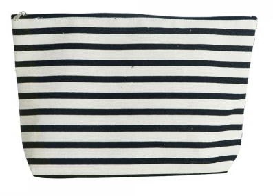 house doctor Kulturtasche Stripes, naturweiß