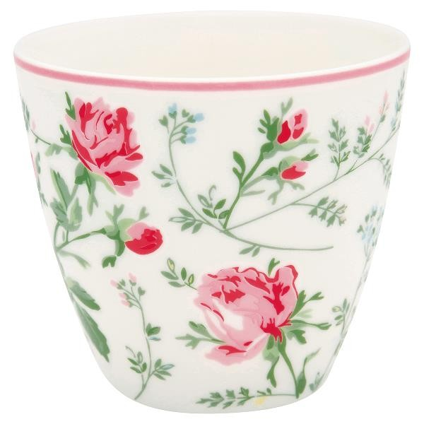 Greengate Latte Cup Constance white