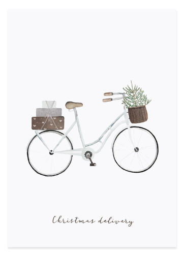 Eulenschnitt Postkarte Geschenke Fahrrad