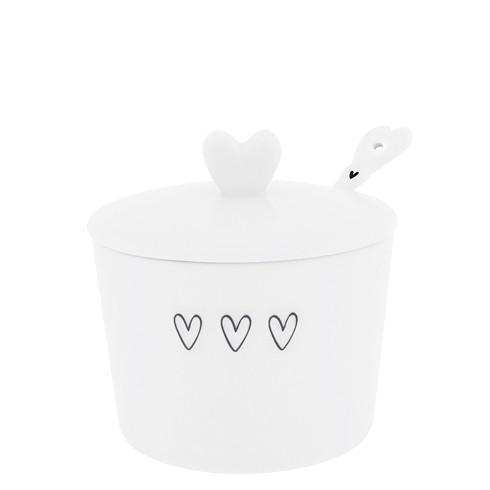 Bastion Collections Sugar Pot / Zuckerdose mit Löffel, schwarz